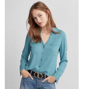 Express Polka Dot Portofino Top Shirt Size Medium